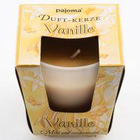 Duftkerze im Glas vanille